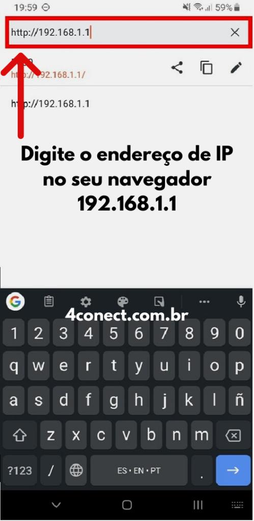 tp-link login admin acessando meu endereço 192.168.1.1 pelo navegador