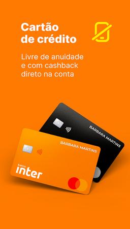fazer cartão de crédito do banco inter no celular