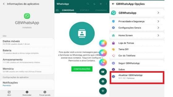 como atualizar o whatsapp gb para nova versão de 2021 no android