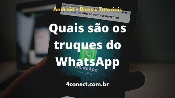 quais são os truques do whatsapp que ninguém sabe