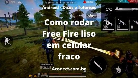 como rodar free fire em celular fraco