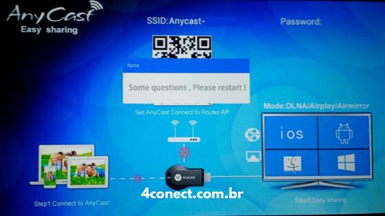 tela inicial do anycast 192.168.203.1